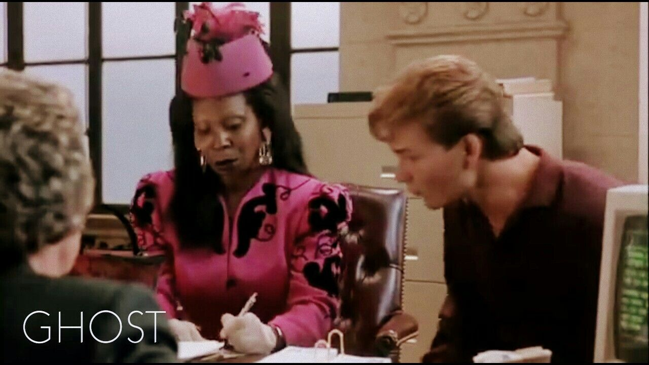 Whoopi Goldberg And Patrick Swayze In Ghost With Images