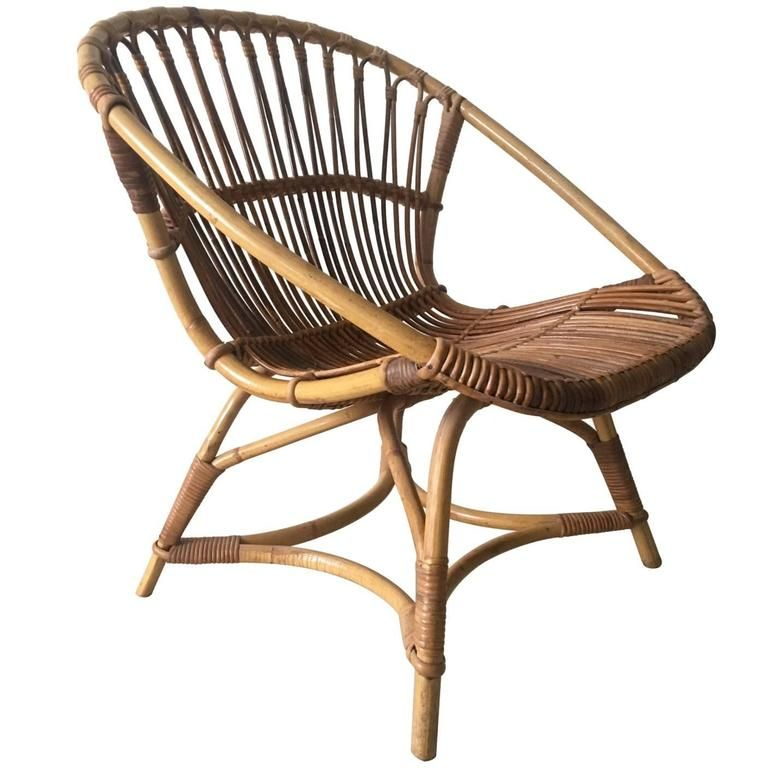 Rare Rattan Chair Model 508 By Dirk Van Sliedregt For Gebr Jonker Noordwolde Chair Rattan Chair Mid Century Modern Armchair