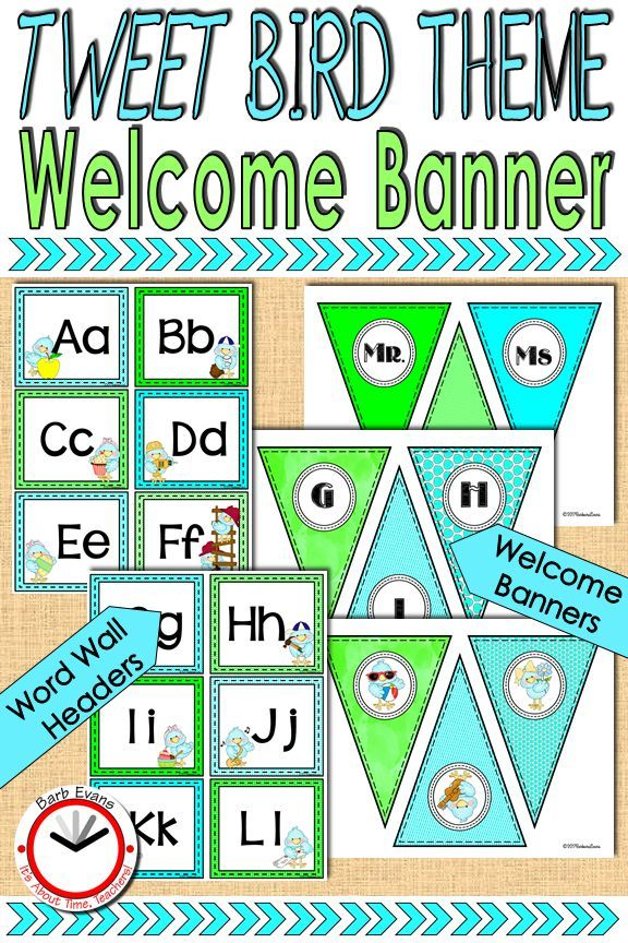 BANNER WORD WALL Classroom Decor TWEET Bird Theme