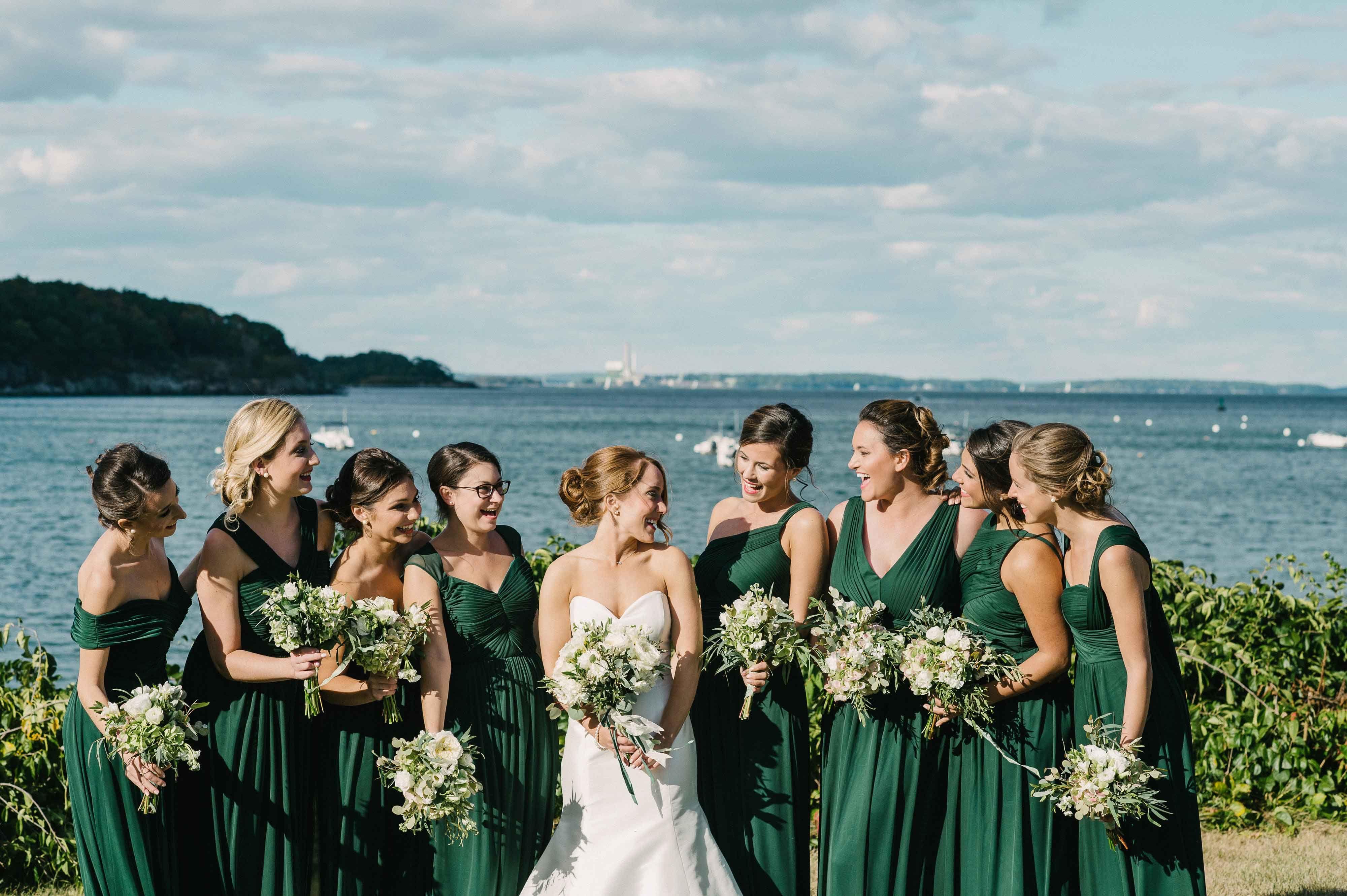 Unique Color Palette Emerald Green Wedding Ideas Forest Green Bridesmaid Dresses Dark Green Wedding Dark Green Bridesmaid Dress