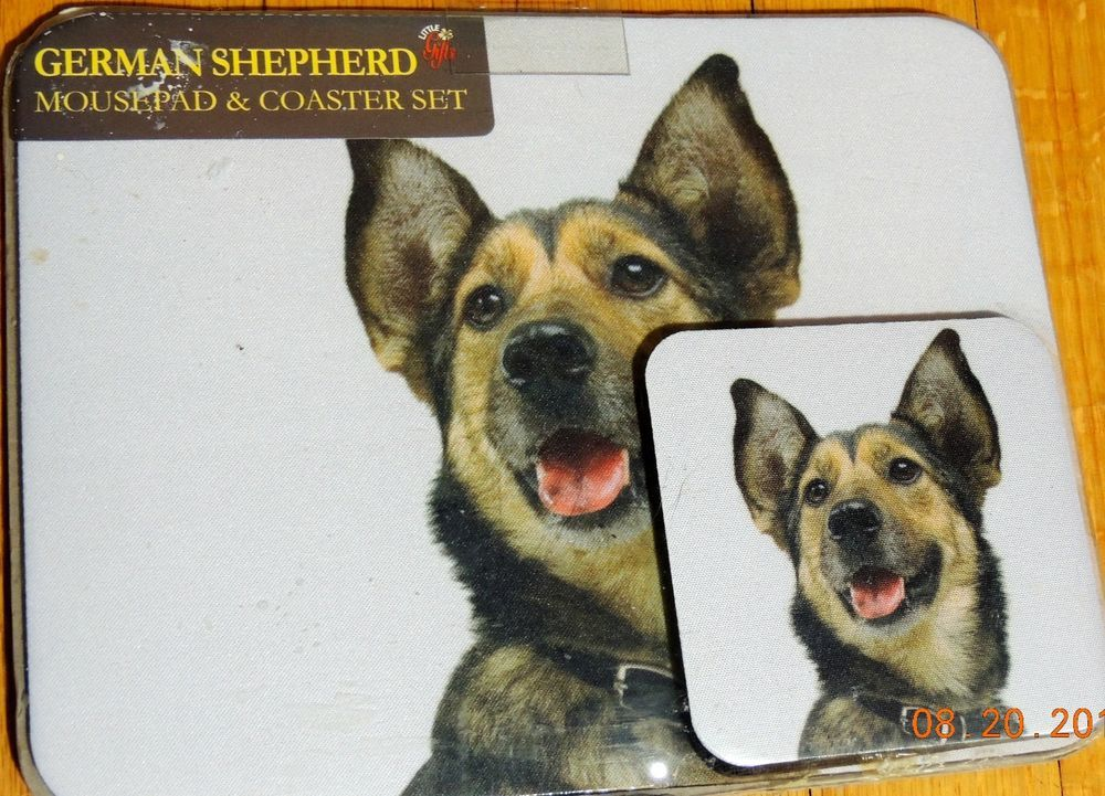 GERMAN SHEPHERD Dog Lover Mouse Pad 9x7 Neoprene & COASTER SET GREAT GIFT #DRDirect