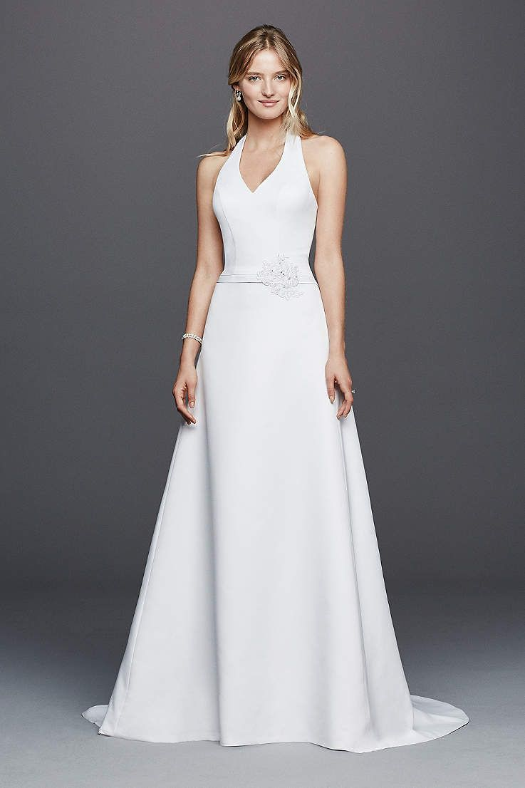 View halter long wedding dress at davidus bridal oh what to wear