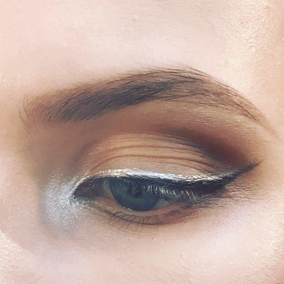 Sophisticated silver black eyeliner using Mac pigment