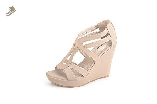 223a5fa3189 Mila Lady Lisa 4 Strappy Open Toe Platform Wedges nude 8.5 - Mila lady  pumps for women ( Amazon Partner-Link)