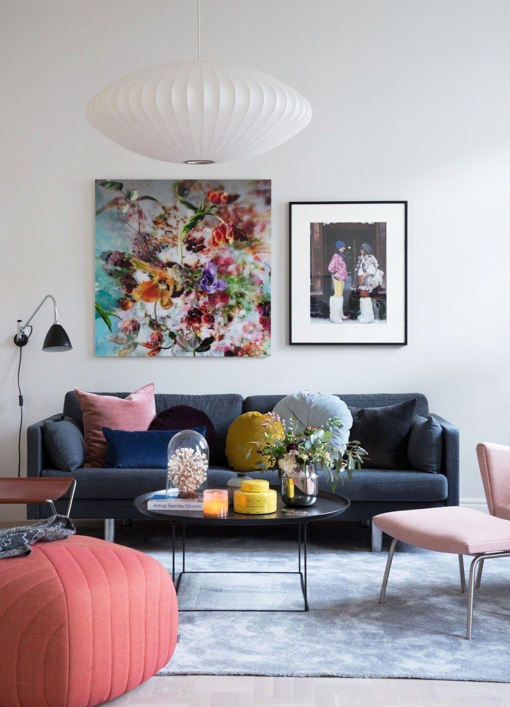 Photo of Arkivet.co: Inspirerende fargerik stue  #stueinspirasjon