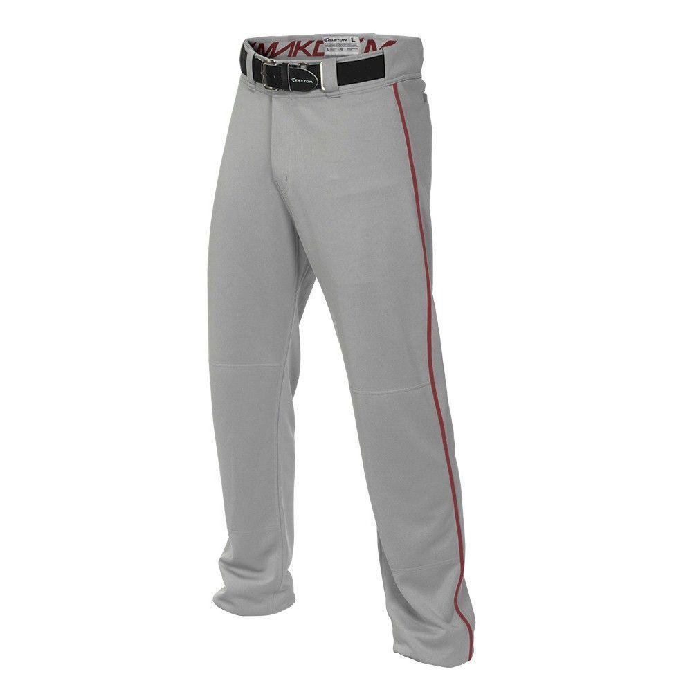 050c66210f28 Easton MAKO2 Piped Boys Baseball Pant - Grey Red