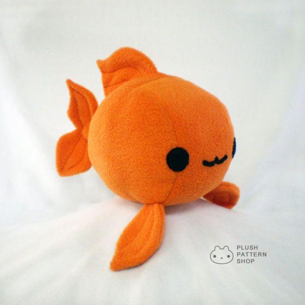 Plush Goldfish Plushie Sewing Tutorial Fish Pattern Pdf Diy