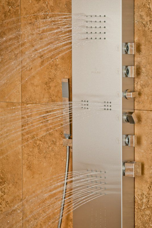 View the Pulse 1035 Oahu 2.5 GPM Shower Panel with Rain Shower Head, Single Function Hand Shower and 4 Body Sprays at Build.com.