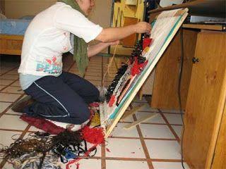 Textil Mazahua . Un telar simple .