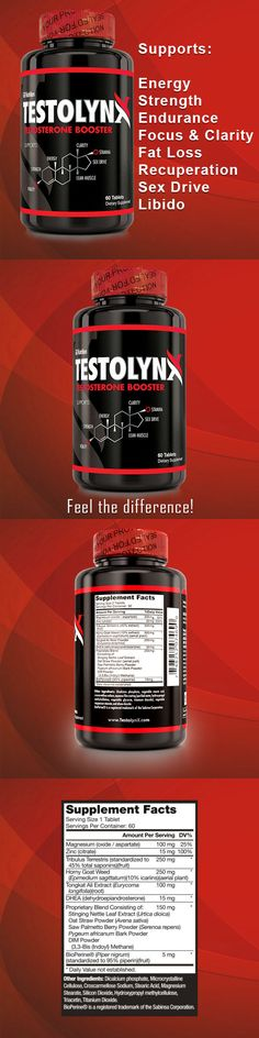 Other Vitamins and Supplements: Testolynx Test Booster Stronger Than Test X180 Testosterone