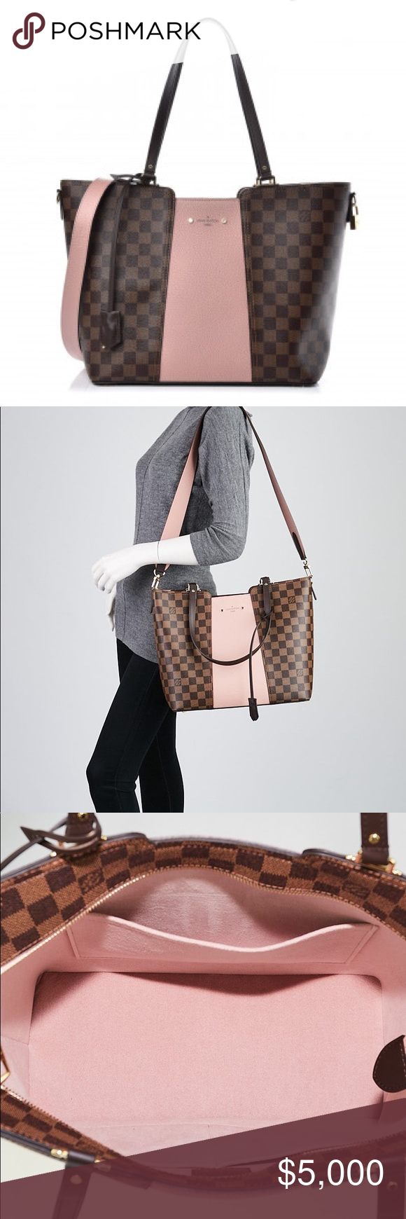 ❤️❤️LIKE NEW LOUIS VUITTON JERSEY DAMIER EBE ❤️❤️LIKE NEW LOUIS VUITTON JERSEY DAMIER EBENE IN MAGNOLIA, ABSOLUTELY STUNNING!!! SO VERSATILE, EXTRA WIDE STRAP FOR COMFORT, WEAR ON YOUR SHOULDER, ARM, OR CARRY AND YOU WILL BE BEAUTIFUL!!! THIS BAG FIYS EVERYTHING, ZIPPER TOP, LARGE OPEN COMPARTMENT, AND SEVERAL SLIDE POCKETS FOR ANYTHING YOU NEED!!! COMES WITH LOCK, KEYS, KEYBELL, TAGS AND DUST BAG!!! All my bags are cleaned and conditioned and stored in their dust bags!!!❤️❤️❤️❤️❤️❤️❤️❤️❤️❤️❤️❤️ #zippertop