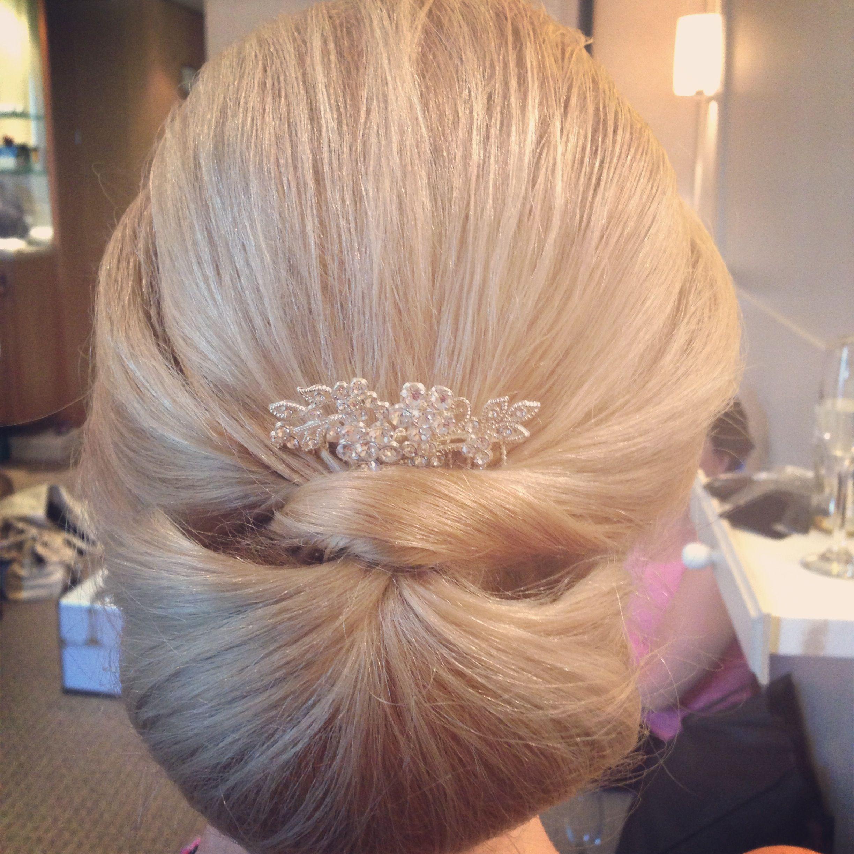 Classic Chignon Wedding Hair by www.sophiawyatt.co.uk