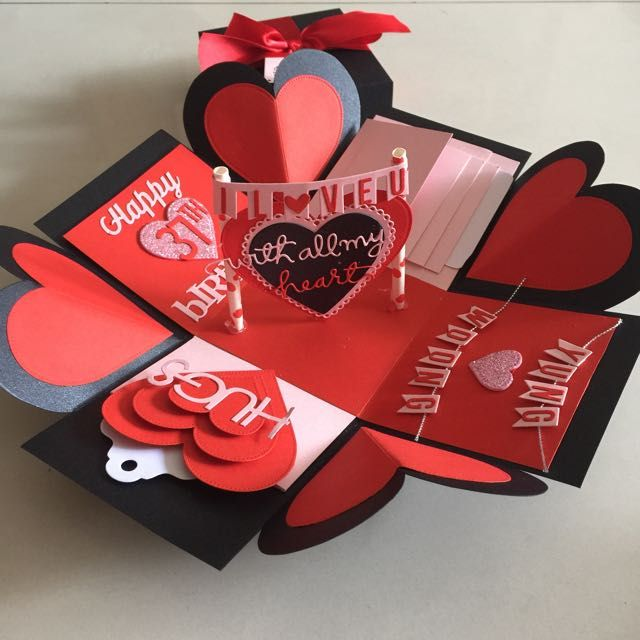 Buy I Love You Explosion Box With 4 Waterfall And 8