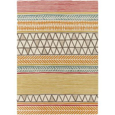 Ivy Bronx Julienne Hand Tufted Burnt Orange Area Rug Rug Size Rectangle 3 3 X 5 3 Area Rugs Red Rugs Area Throw Rugs
