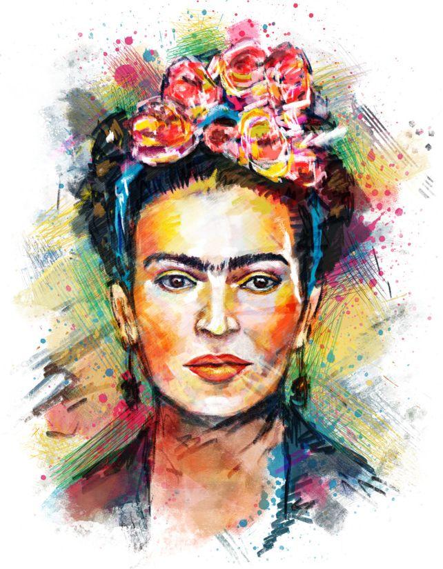 Resultado de imagen de frida kahlo pinturas modernos - Cuadros de pies ...