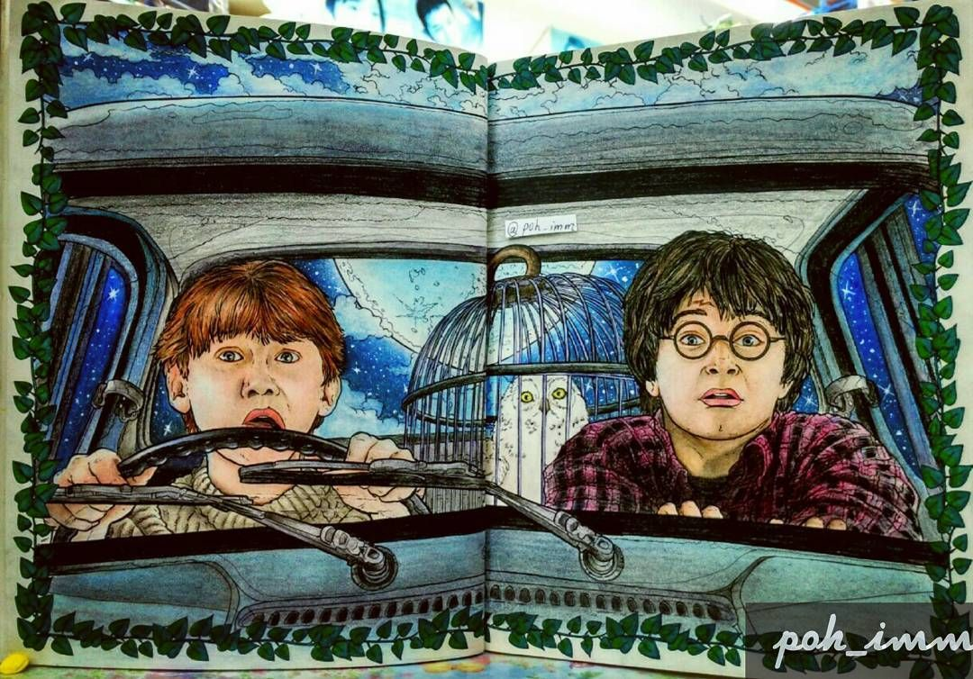 18 Harry Potter Coloring Book ideas   harry potter coloring book ...