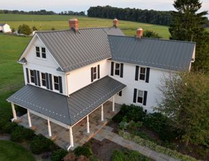 Approximately 4 700 Square Feet Of Woburn Mass Based Rheinzink America Inc S Prepatina Graphite Grey Metal Roofs Farmhouse Farmhouse Renovation Metal Roof