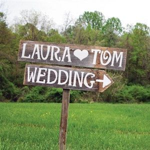 Rustic Wedding Signs Outdoor Weddings Large Font Hand Painted Reclaimed Wood