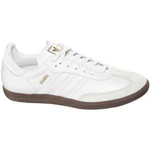 Fancy - Adidas Samba White Leather And Gum Sole cafa97795a1c