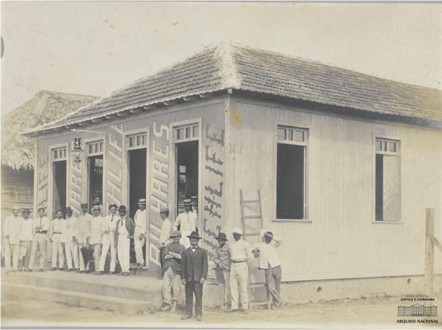Sena Madureira (AC), no início do século XX. Arquivo Nacional. Fundo: Fotografias Avulsas. Código: BR_RJANRIO_O2_0_FOT_00480_002.