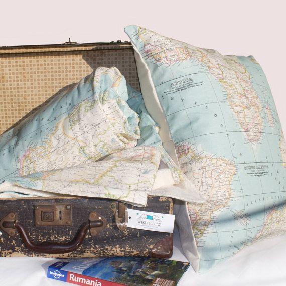 items similar to world map set of 2 blanket and cushion map blanket blue blanket map bedding throw blanket set travel blanket dorm decor on