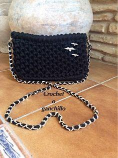 Crochet o ganchillo: BOLSO NEGRO NOCHE