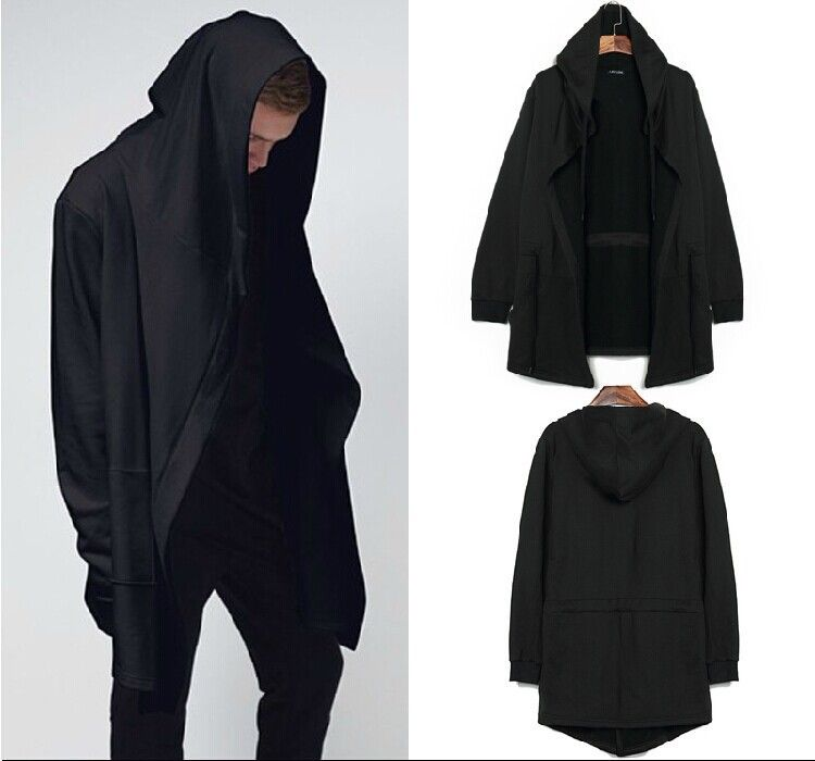 Men Fashion Sweatshirt Hoodie Hooded Cardigan Outerwear Cape ...