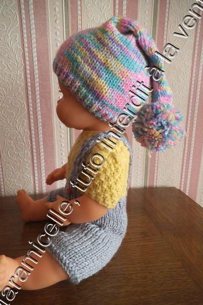 10739ee5058 tuto gratuit poupon   bonnet de lutin Tricot Pour Poupon