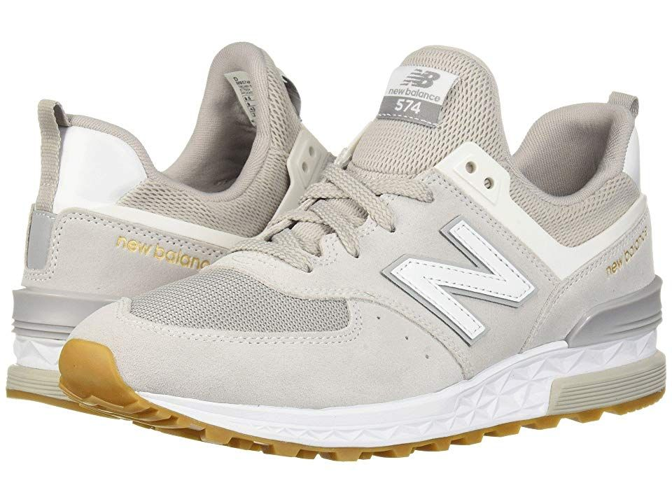 4df6656ab2e New Balance Classics MS574v1 (Rain Cloud White) Men s Shoes. With a ...