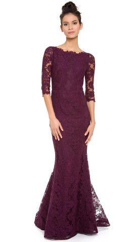 alice + olivia Jae Open Back Gown   SHOPBOP   Dresses   Pinterest