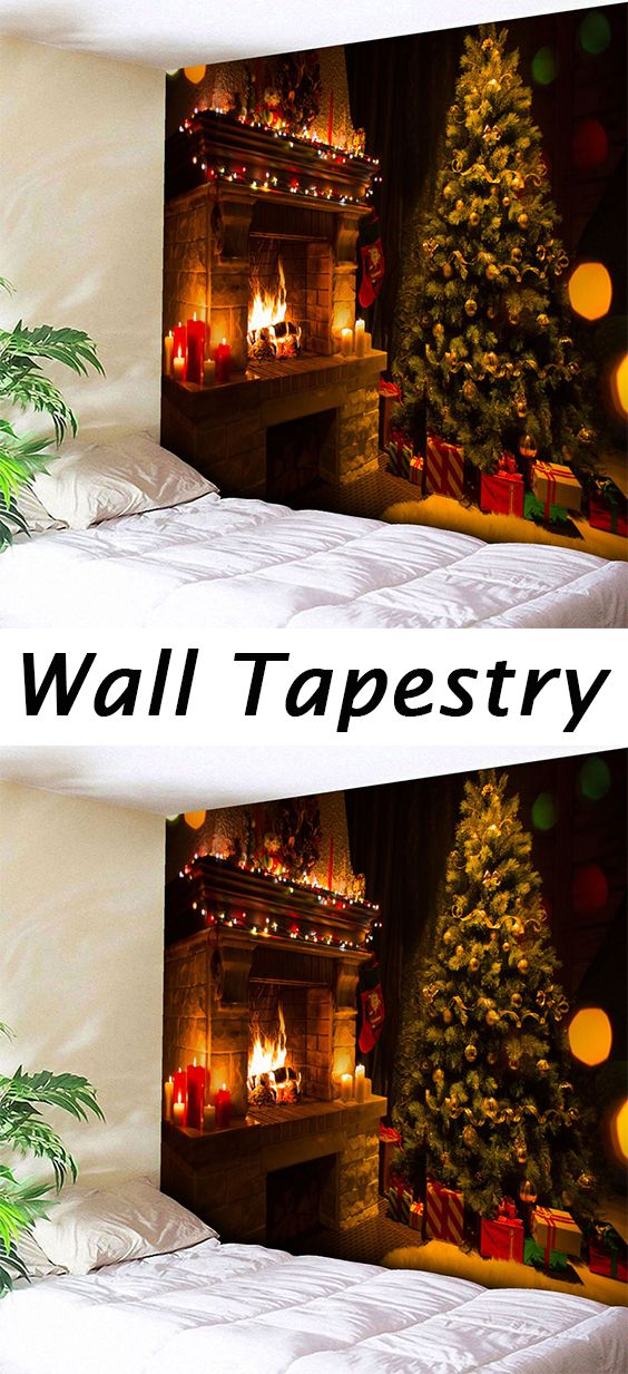 Christmas Tree Fireplace Wall Hanging Tapestry Wall tapestries