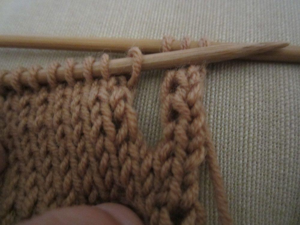comment tricoter une maille lisiere   avec de la laine