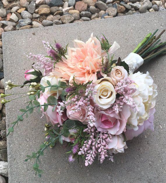 Strawberry Fields silk flower wedding Bouquet. Custom bouquets ...