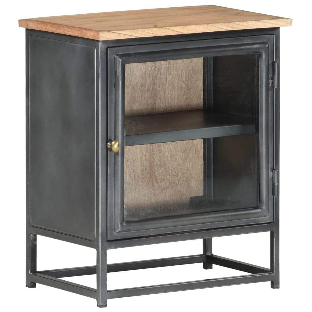 Bedside Cabinet Grey 40x30x50 cm Solid Acacia Wood