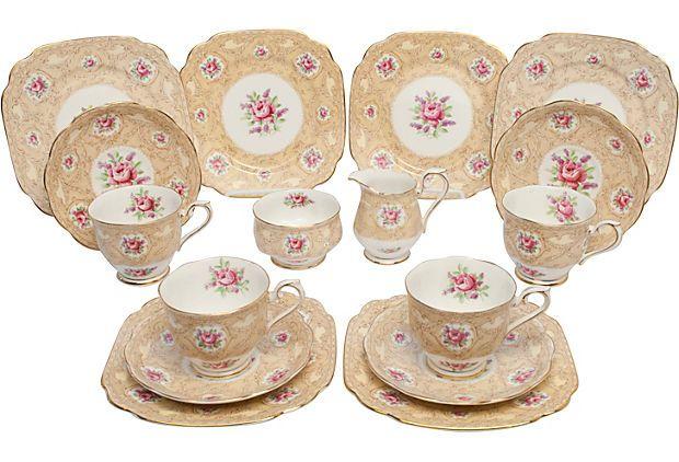 Vintage bone china Royal Albert Tea Set from Kathleen Kern