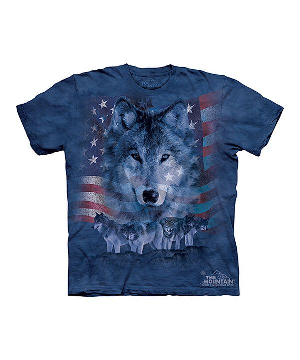 Another great find on #zulily! Blue Patriotic Wolf Pack Tee - Toddler & Kids by The Mountain #zulilyfinds