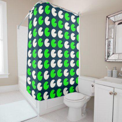 Pop Art Pacman Pattern Shower Curtain