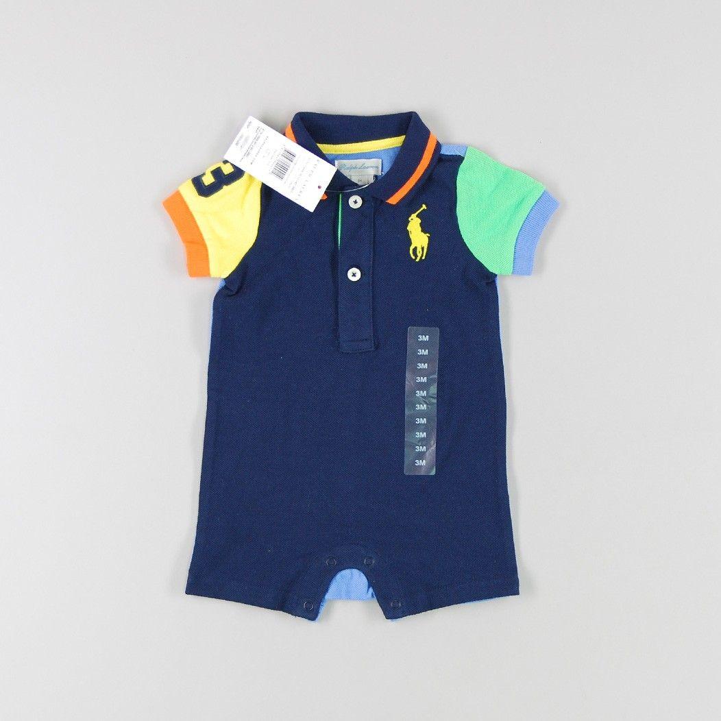 Pelele número 3 de color Azul de marca Polo Ralph Lauren Polo Ralph Lauren,  Color 232c3277152