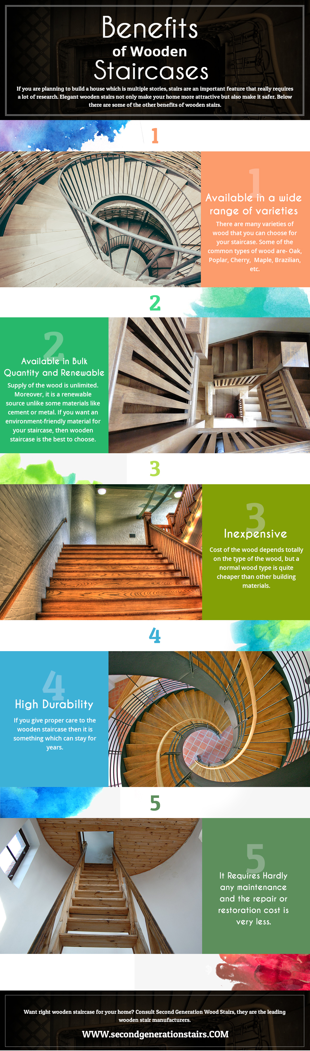 Best High Durability Of Wooden Stairs Made It Special For Home 400 x 300