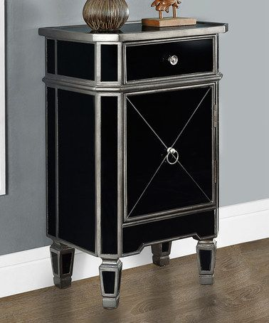 Look What I Found On Zulily Brushed Charcoal Black Mirror Single Cabinet Accent Table Zulilyf Mirrored Accent Table Monarch Specialties Mirrored Furniture