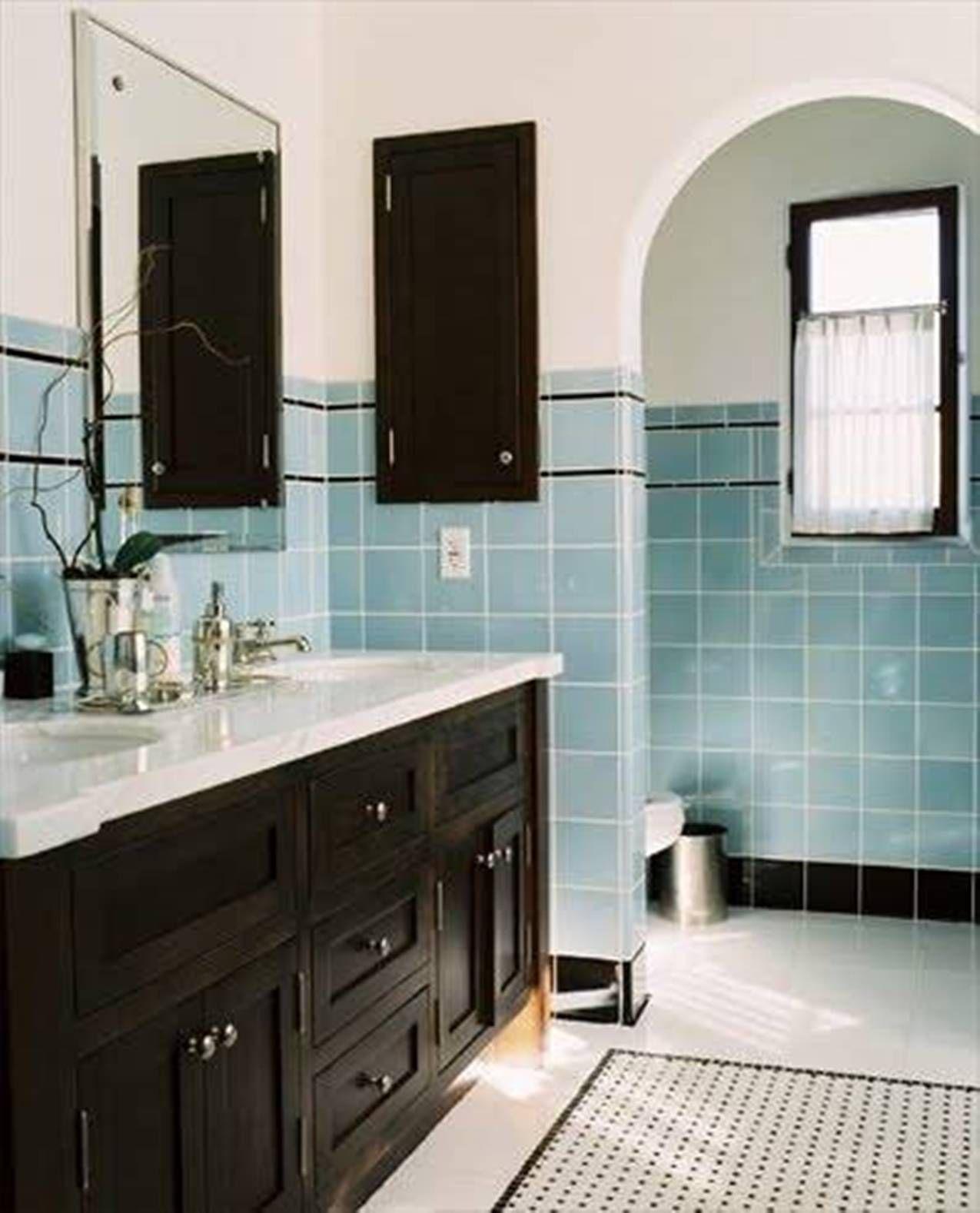 Classic Vintage Vintage Bathroom Ideas Blue Bathroom Tile Retro Bathrooms Vintage Bathroom Tile