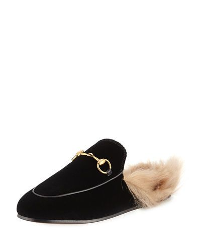 797ad650688 GUCCI PRINCETOWN VELVET SLIDE MULE.  gucci  shoes