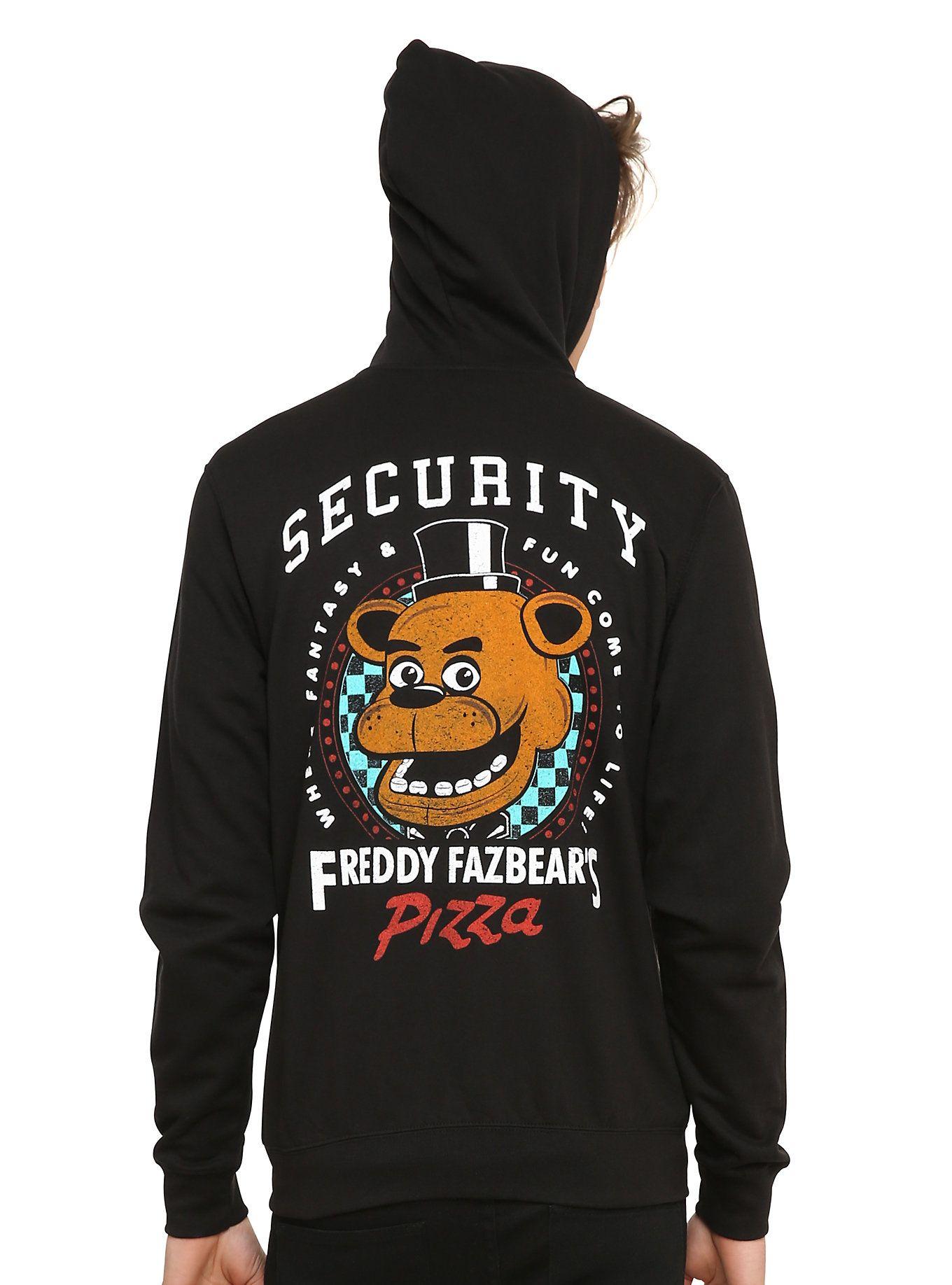 Five Freddy's Hoodie At Freddy Pizza Fazbear's Nights Security qzMpVGSU