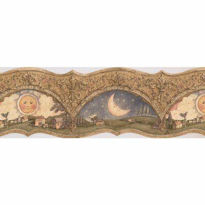 "Harriet Bee Bussell Sun Moon Star 15' L x 8"" W Wallpaper"