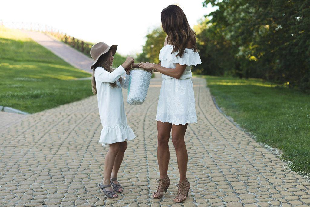 Letnie Sukienki Dla Mamy I Corki Girl White Dress Dresses