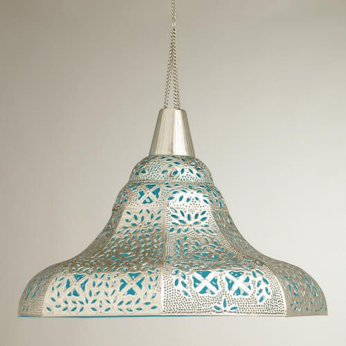 Oversized Punched Metal Pendant Lamp --- http://www ...