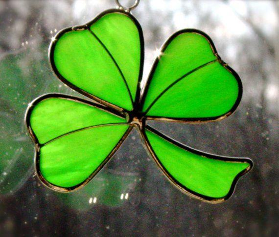Irish shamrock by carleeglass on Etsy, $10.00