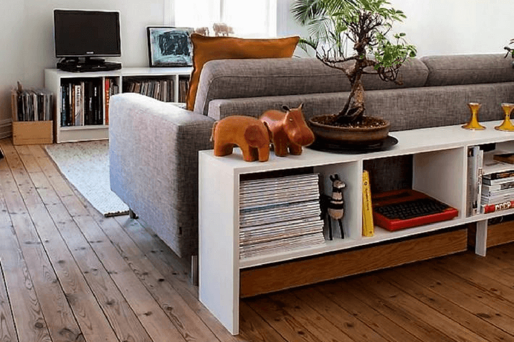 Hackers Help Diy Sofa Room Divider Bookcase Ikea Hackers Ikea Living Room Low Bookcase Room Divider Bookcase