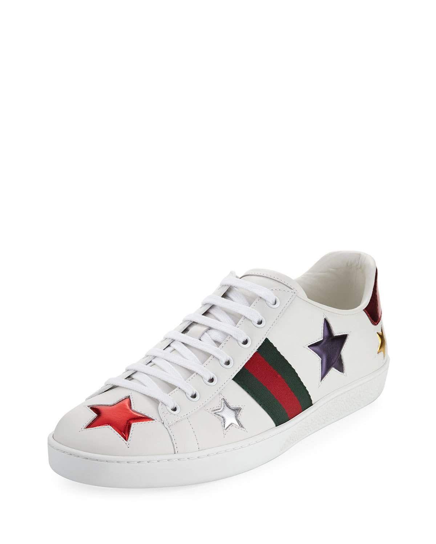 35f3ef65e20 Gucci New Ace Star Leather Sneaker