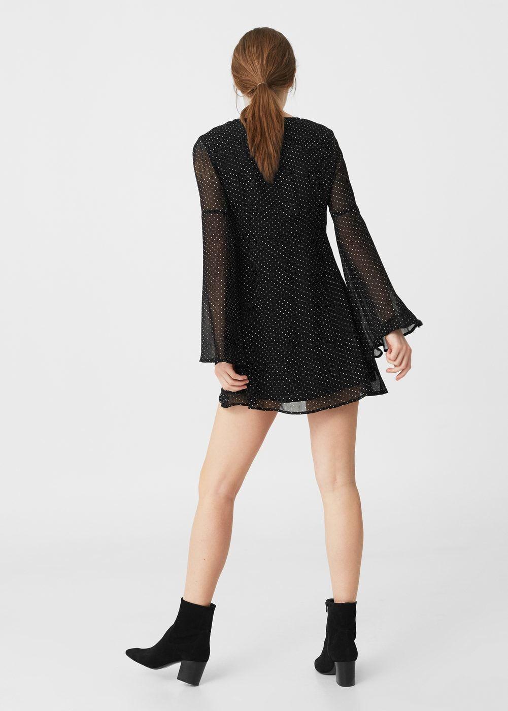 Flared sleeves dress | MANGO